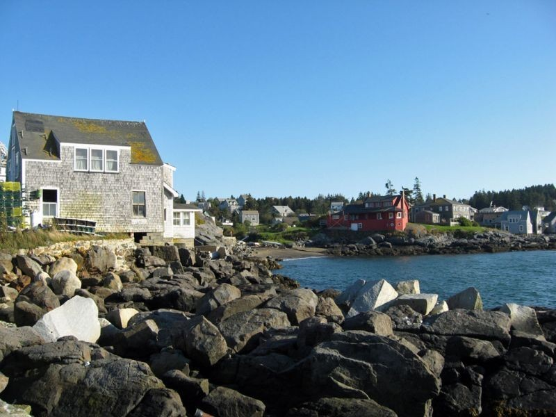 …and the waterfront which is shared by lobstermen, artists, and birders.