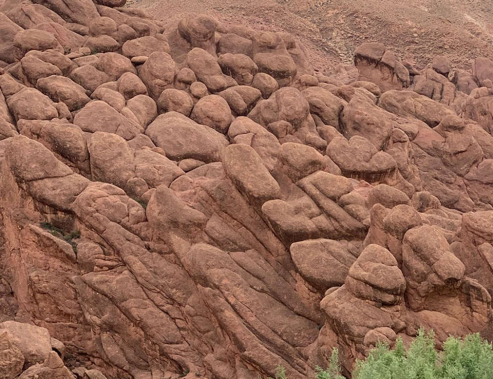 "Travelling south, we'll stop to admire the peculiar ""monkey fingers"" rock formation in Dades Gorge… (SM)"
