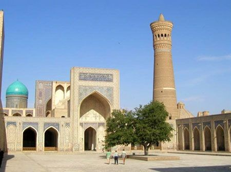 Moving further along the Silk Road we'll reach another gem – the ancient city of Bukhara and sights such as the Kalen Minaret...