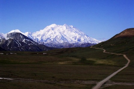 Mount Denali stands as a monolithic sentinel over the Alaska Range.