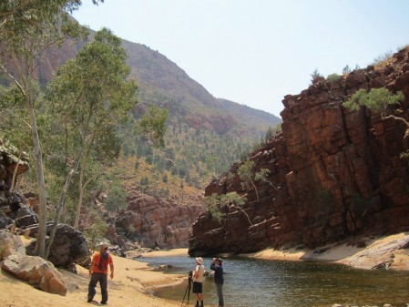 A flight inland to the MacDonnell Ranges and the heart of the outback around Alice Springs.