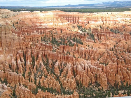 …the view from along the rim at Bryce Canyon National Park…