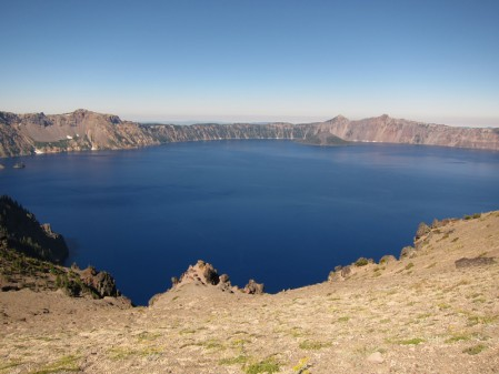 The deepest lake in North America, it really is that blue.